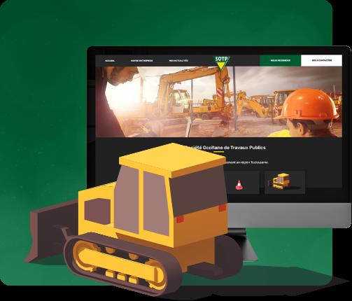 conception du site internet d'un artisan du btp sur Toulouse
