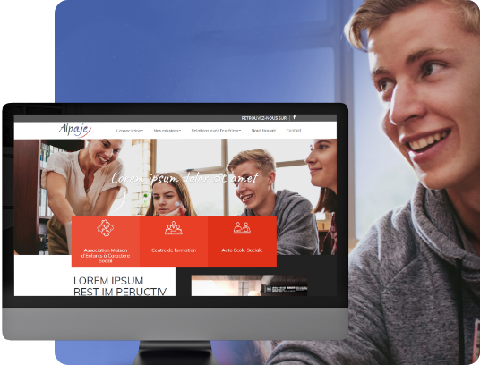 conception de site internet pour l'association Alpaje