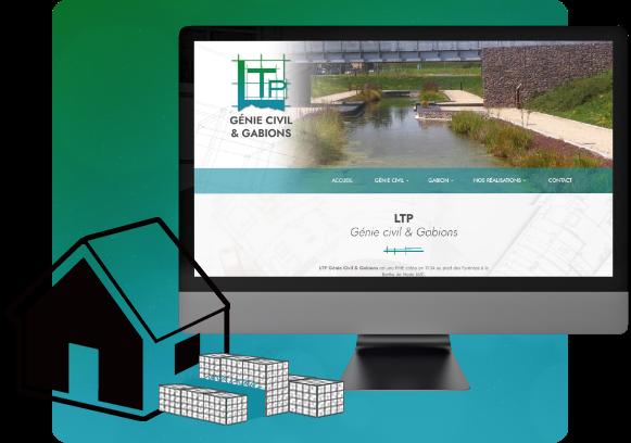 Conception du site de l'entreprise de BTP LTP génie civil & gabion