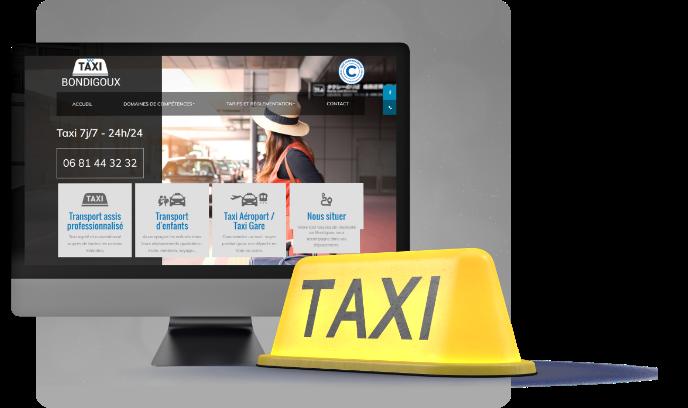 Conception du site d'une taxi sur Montauban