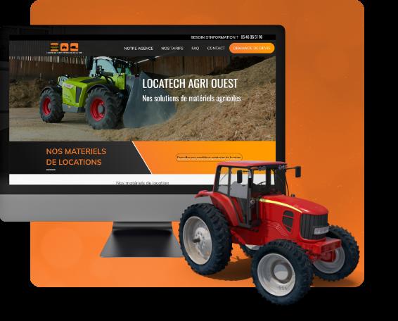 Conception du site d'un loueur de véhicule agricole