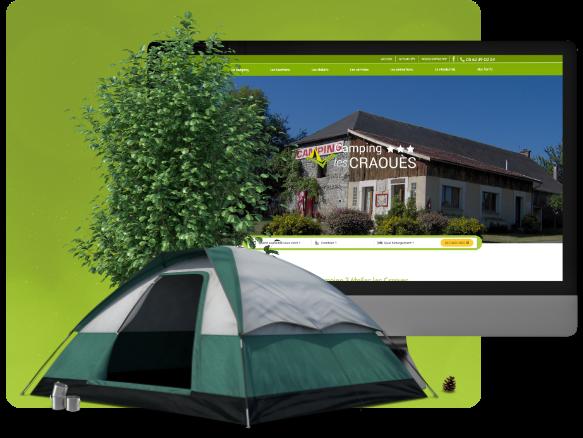 Conception du site d'un camping dans les Pyrénées