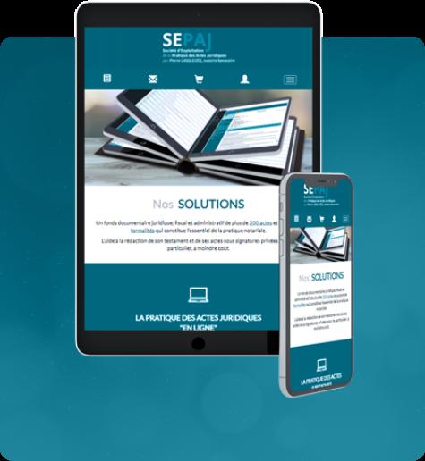 Responsivité du design du site internet sur mobile et tablette