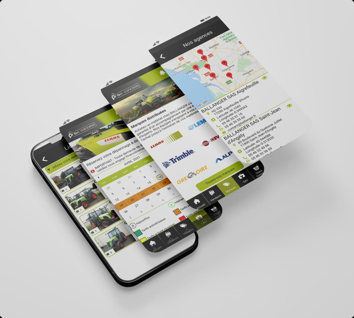 Conception de l'application mobile client