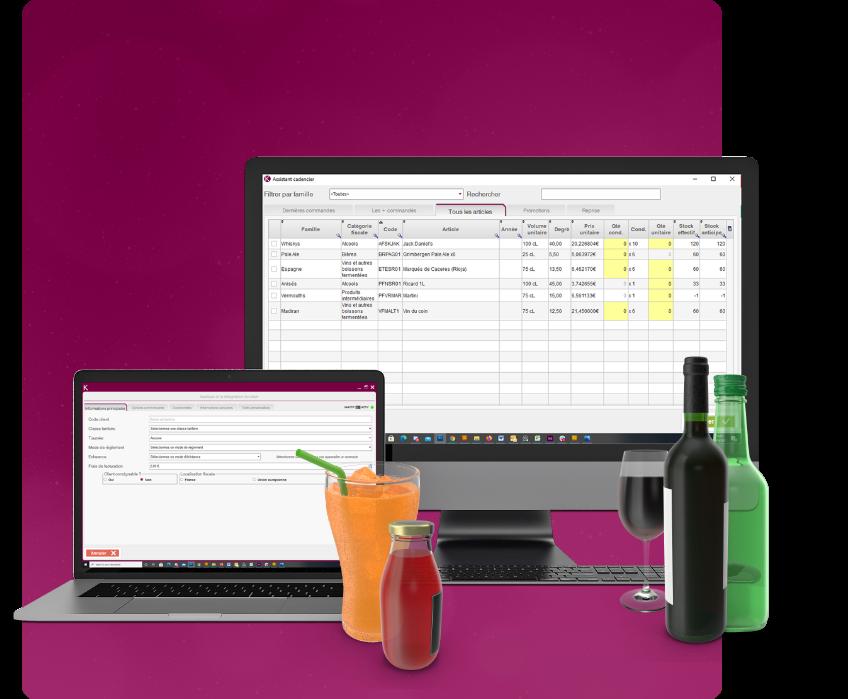 création du logiciel de vente de boissons Kvineo